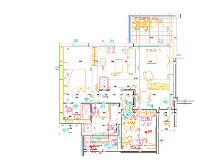 3-pokojový byt se všemi ikonografie