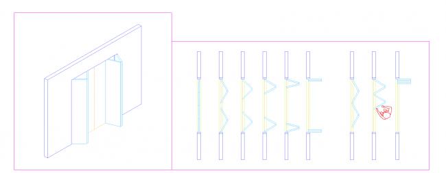 4 folding sliding doors wings
