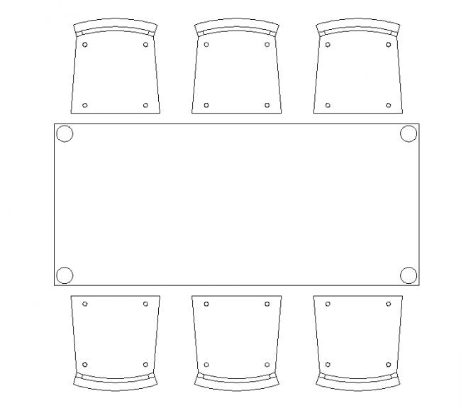 6 jídelní židle