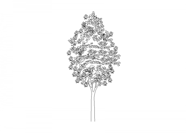 A beautiful tree full of small parts made of