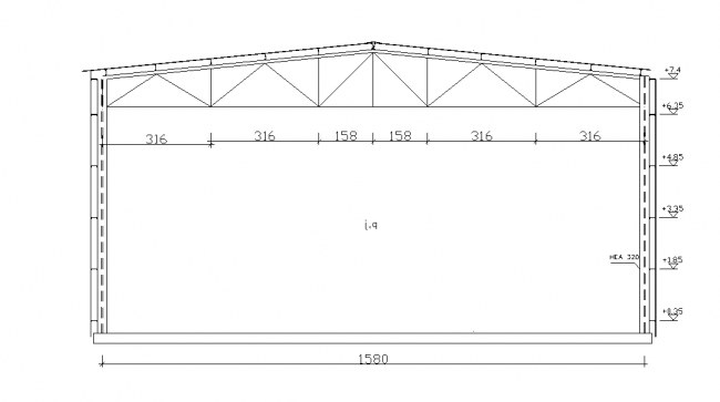 A construction of steel structure simple