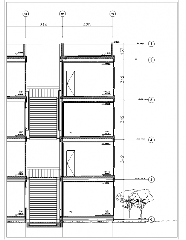 A cut container like structure perspective