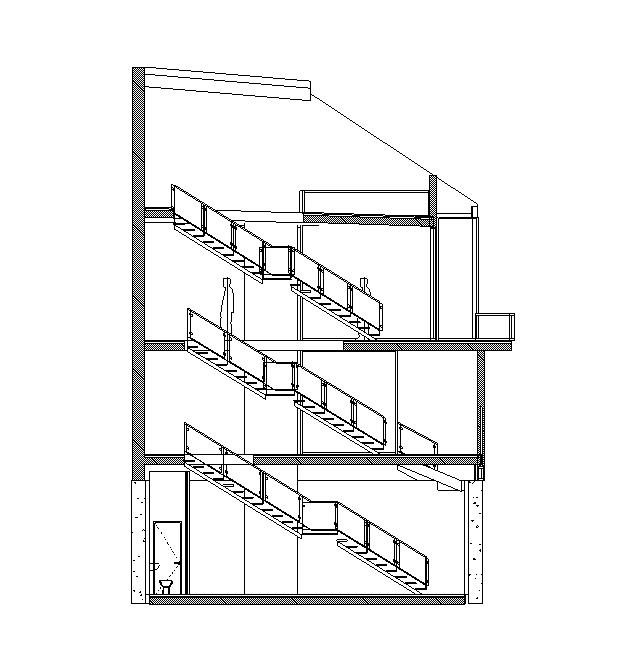 En detaljerad tvärsnitts Building