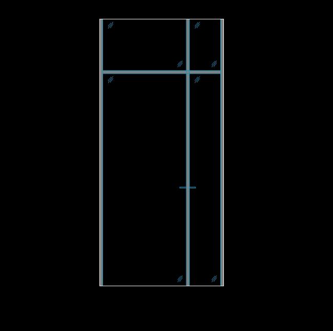 A glass partition
