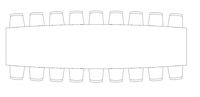 En lång tabell - Sambol användbar plan