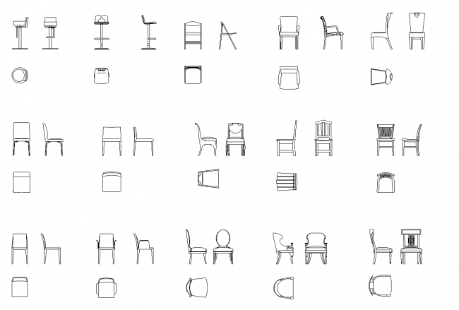 En titt på de stolar och sidobord
