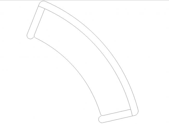 A small circular sofa