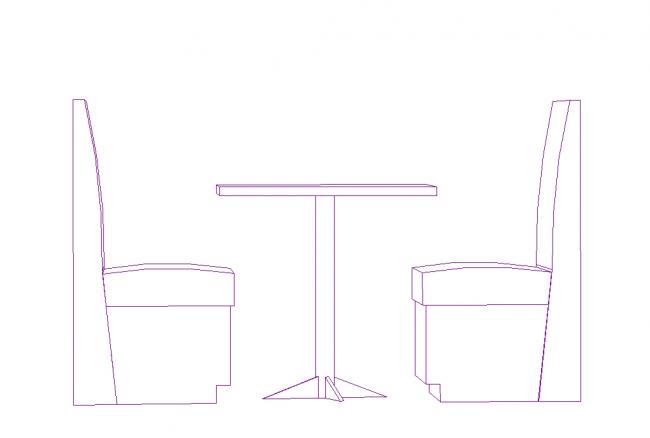 En tabell med en stol för matsal