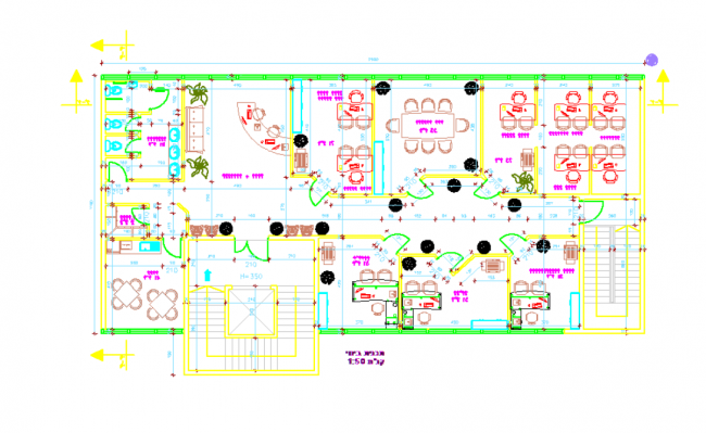 Architectural plan offices