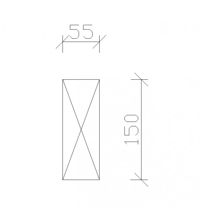 Ark 55/150 cm
