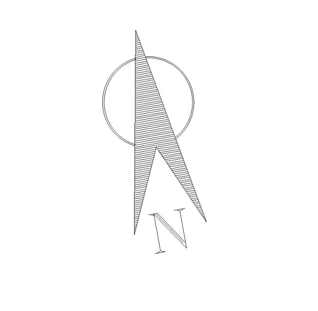 Arrow North AutoCAD