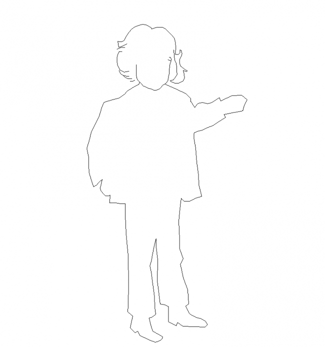 Autocad Block - boy outline