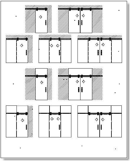 Automatic sliding doors - facades