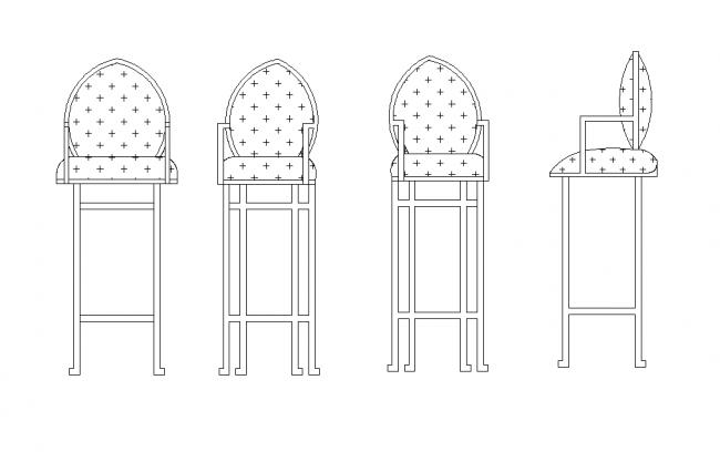 Bar stol lyxig 5-vägs