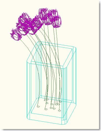 Block 3D flowers Boazh
