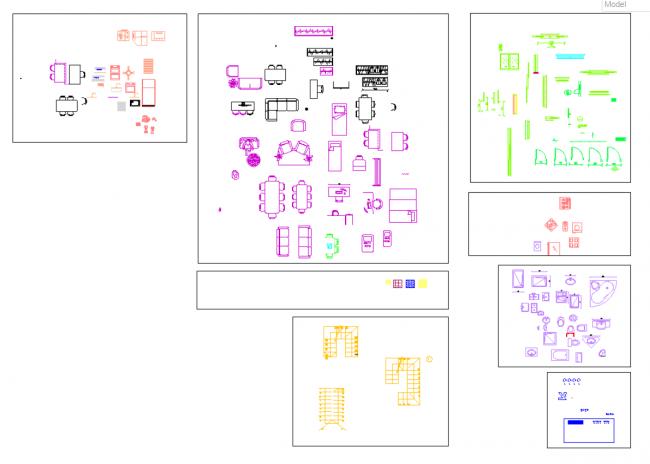 Blocks architectural plan Kitchen