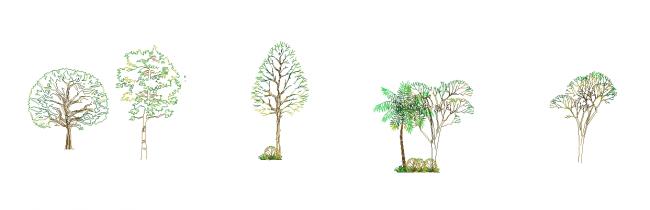 Blocks beautiful trees