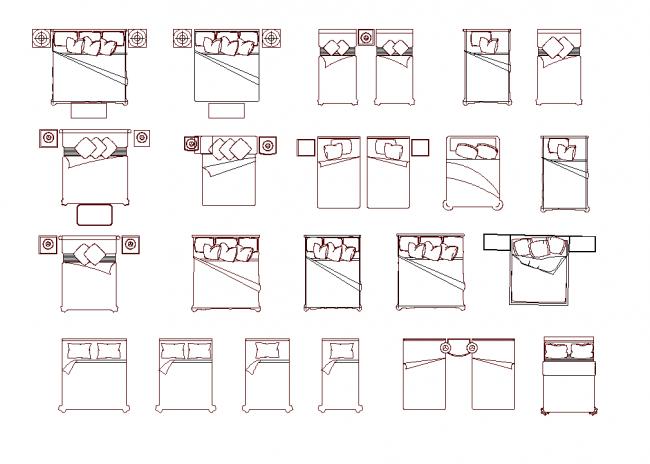 Blokke af senge