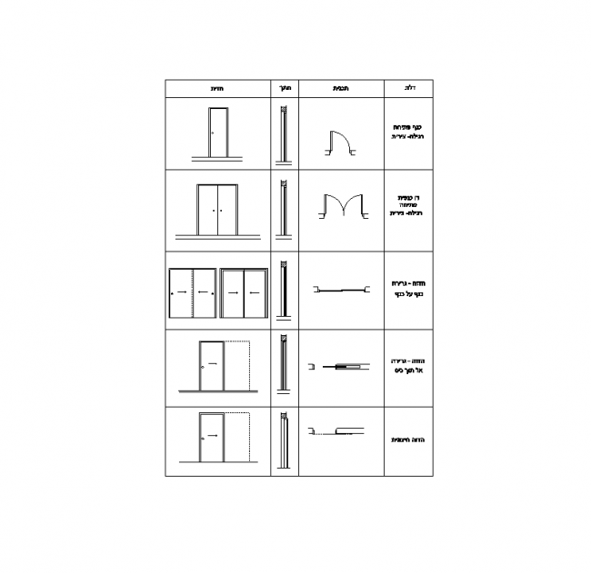Blocks Symbols - Sliding Doors