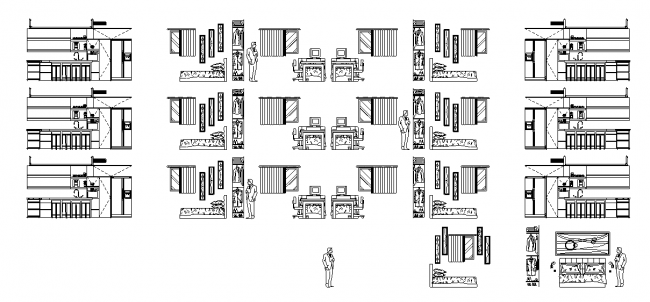 Blocks to the detailed furniture