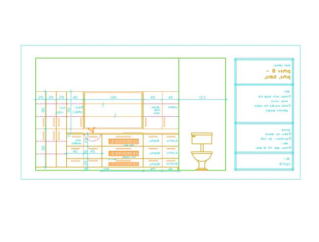 Asztalos jelentés elrendezését. Fürdőszoba