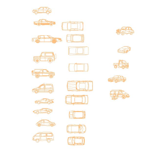 Cars, auto, car shapes