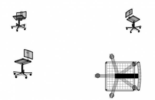 Chair-three-dimensional symbol