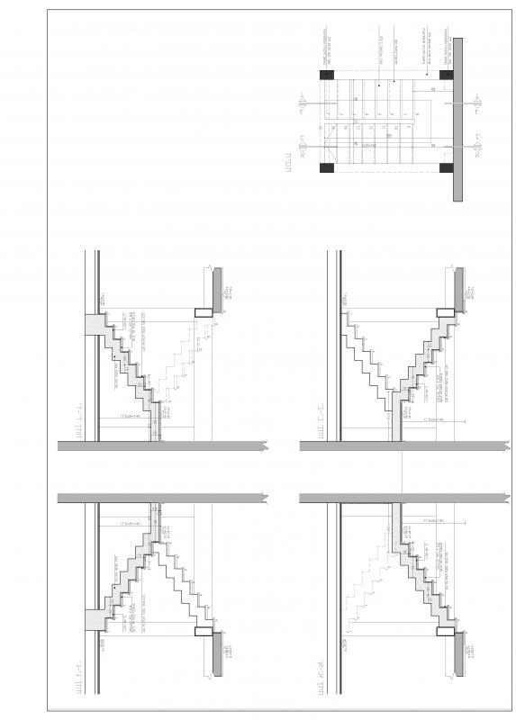 Konkreta trappor med trä väg
