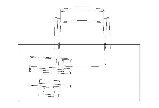 Desktop computer chair