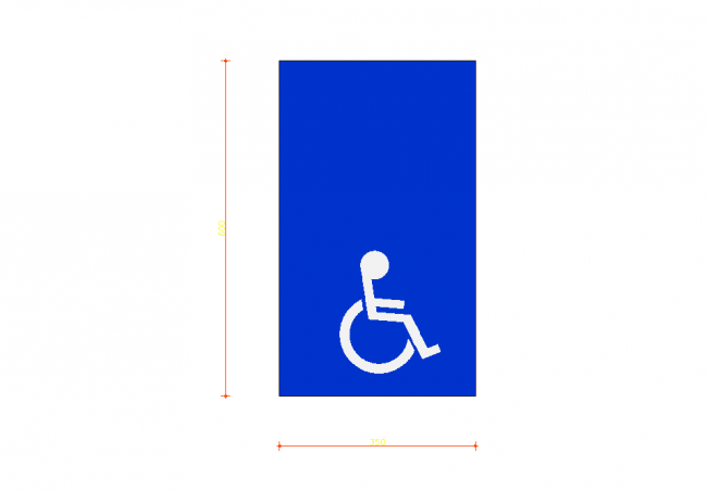 Disabled parking the vehicle high single