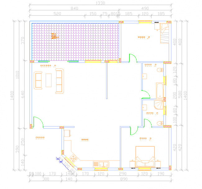 Drafting of apartment