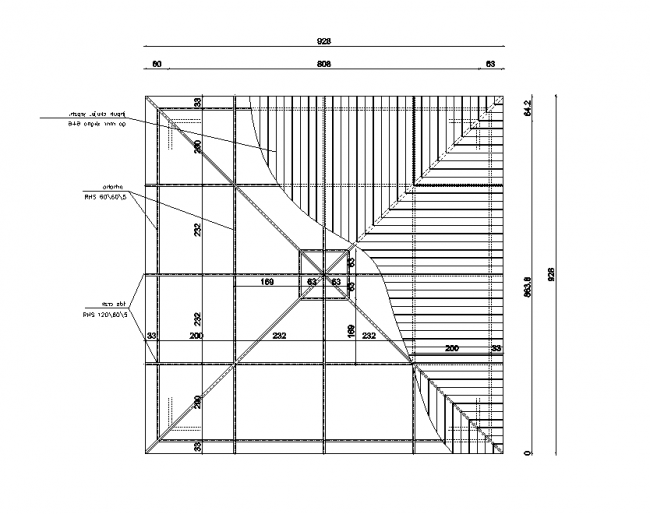 Drafting of the roof light construction