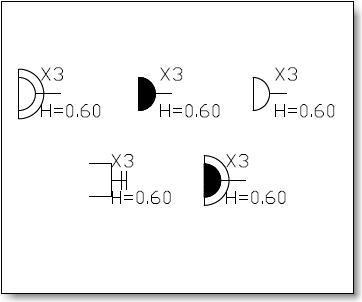 Dynamic Block program marking electrical outlets