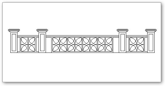 Fence with columns