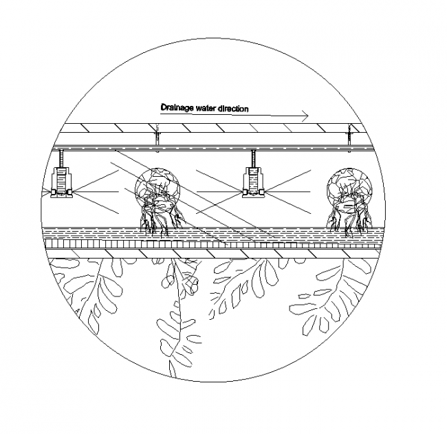 Hydroponic pipe cross section