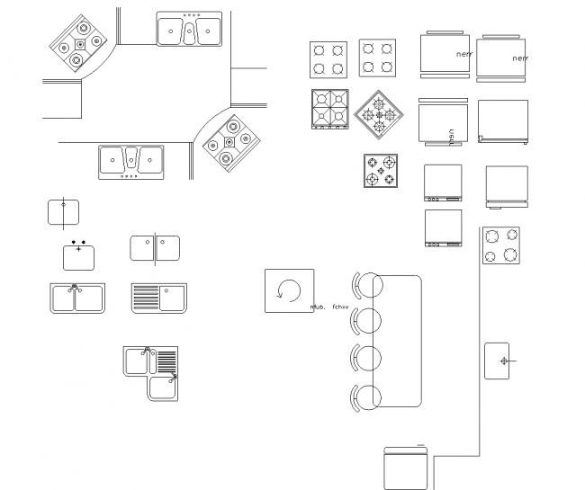 Kitchens, sinks, cabinets, etc.