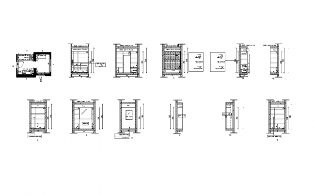 Layouts of the tiles and taps in