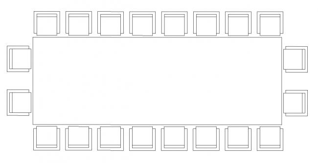 Tárgyalóhelység táblázat - 20 ülőhely