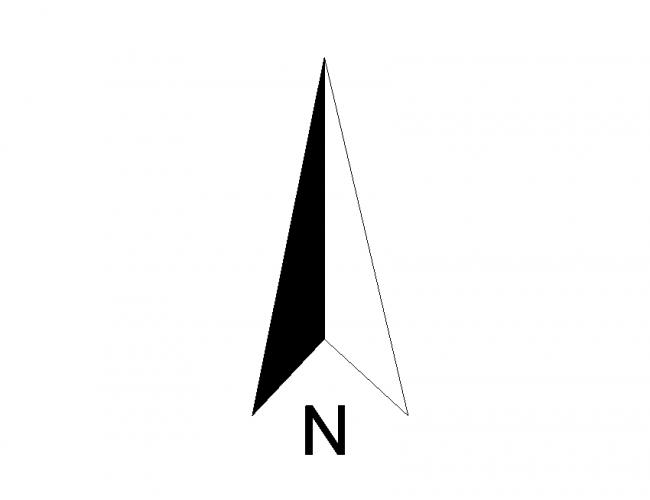 North Arrow Vacker