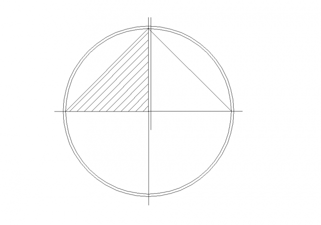North Arrow - round with a triangle