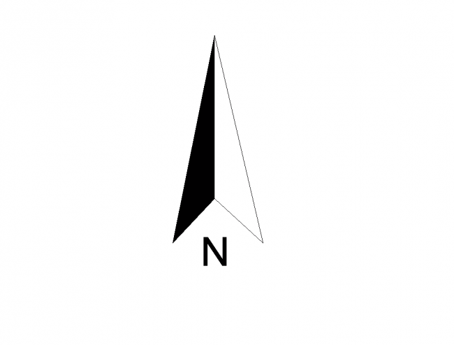 North Arrow Round