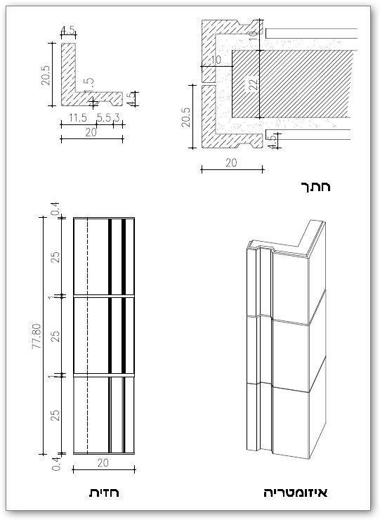 Öppen väggbeklädnad (mezuzah) prefabricerat element