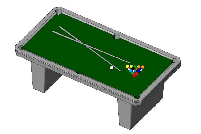 Pool table / Paul